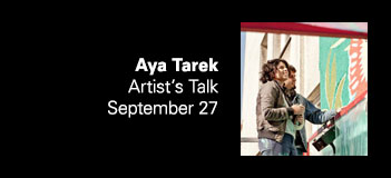 Aya Tarek Artist's Talk. photo: Robert Winter